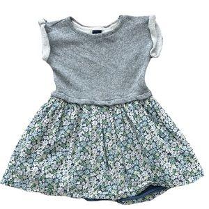Baby Gap Toddler Girls Mixed Media Floral Dress